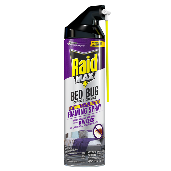 RAID MAX® Bed Bug Crack & Crevice Extended Protection Foaming Spray