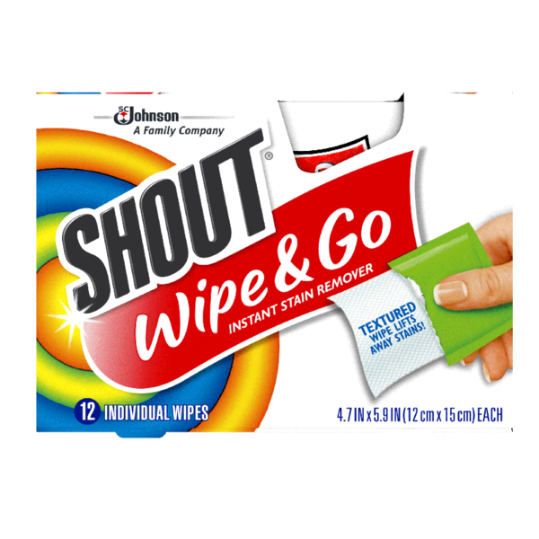 Shout® Wipes Instant Stain Remover