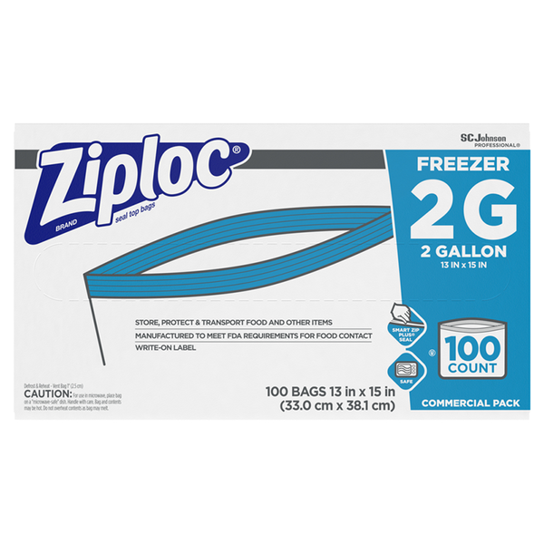 SC Johnson Professional® Ziploc® Brand Freezer Bag 2 Gallon