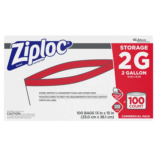 SC Johnson Professional® Ziploc® Brand Storage Bag 2 Gallon