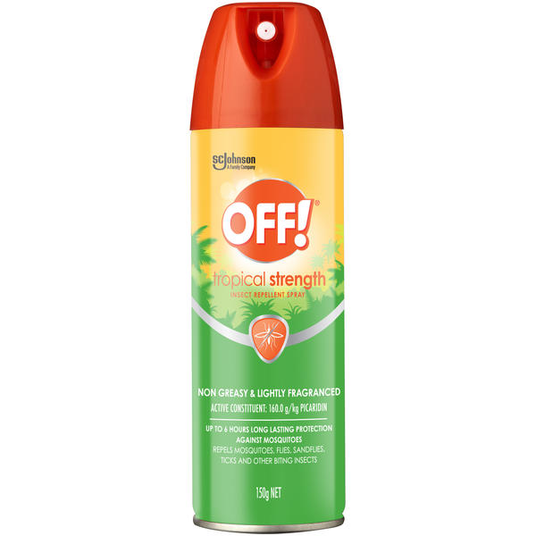 Off!® Tropical Strength Insect Repellent Aerosol Spray 150g