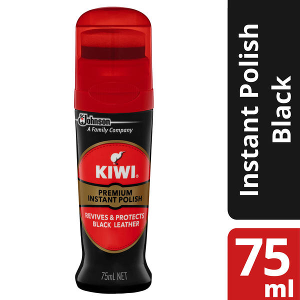 Kiwi® Premium Instant Polish Black Leather 75mL