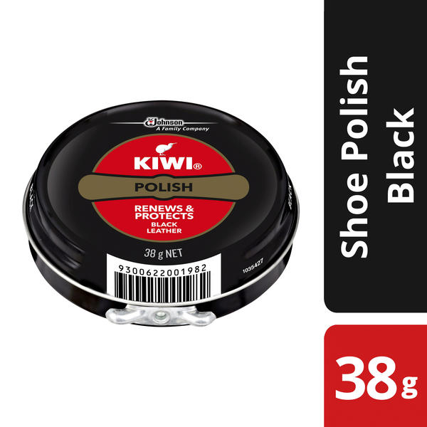 Kiwi® Shoe Polish Black Leather 38G